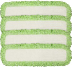 Eurow Commercial Microfiber Dry Mop Pad Refill 24 In Green 4 Pack - $32.21