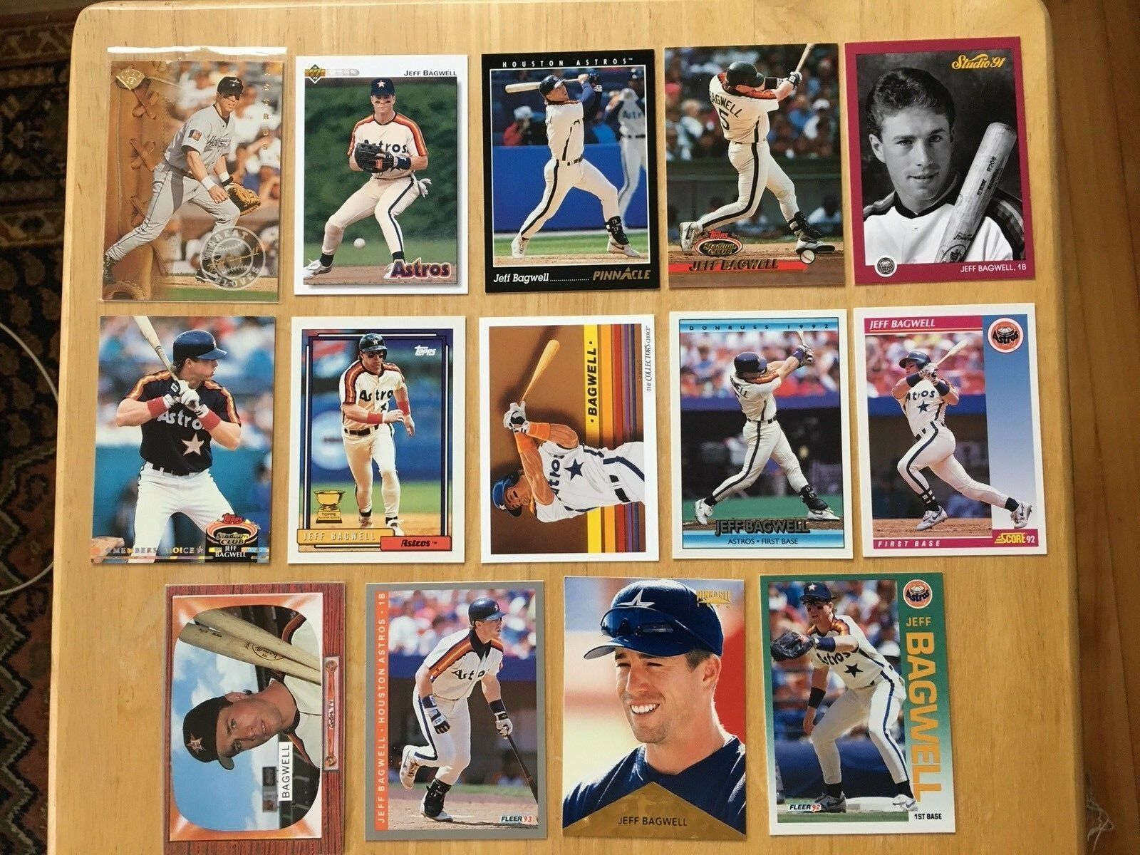 Jeff Bagwell 14 Baseball Card Lot NM/M Condition Houston Astros Topps