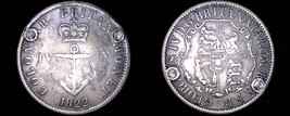 1822 British West Indies 1/4 Dollar World Silver Coin - Anchor Money - P... - $44.99