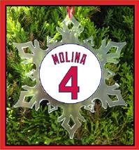 Molina Jersey Christmas Ornament - Baseball - St Louis - Star - $12.95