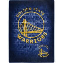 "NBA Warriors Prestige Plush 60"" x 80"" Throw Blanket - $46.53"
