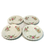 "Set of 4 Royal  Doulton Saucers Clovelly Floral Fine China 6"" - $29.69"