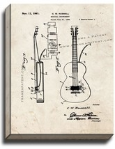 Musical Instrument Patent Print Old Look on Canvas - $39.95+