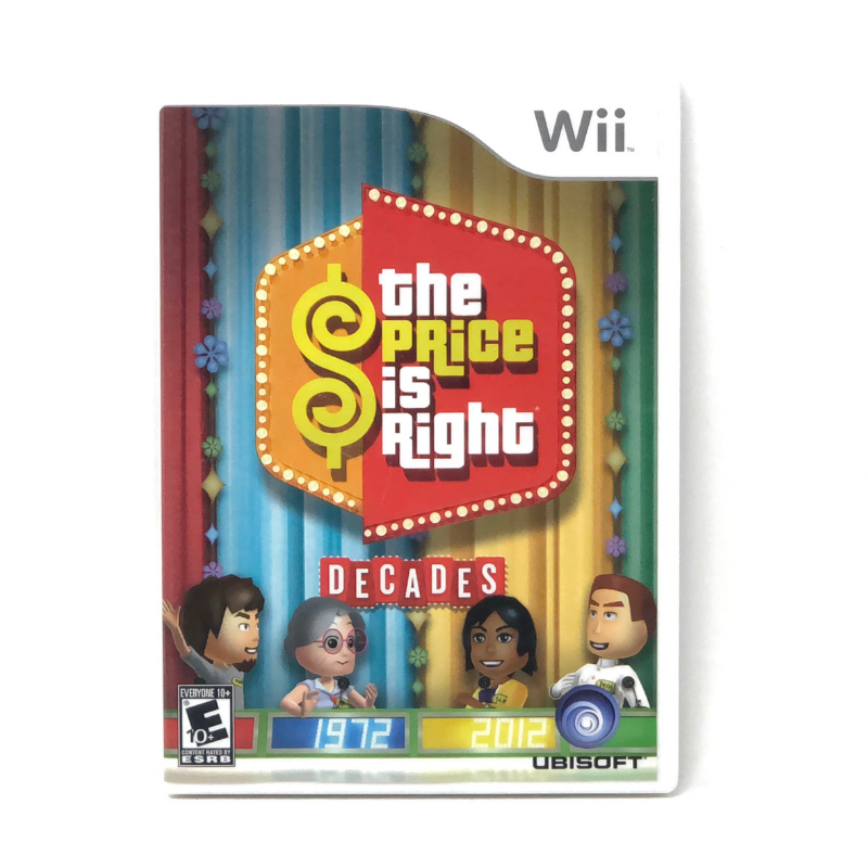 The Price is Right Decades Video Game Nintendo Wii 2011 Complete With Manual