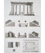 ITALY Temple of Serapis at Pozzuoli - SUPERB 1905 Espouy Print - $15.84