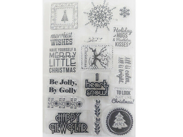 Christmas Sentiments Clear Stamp Set