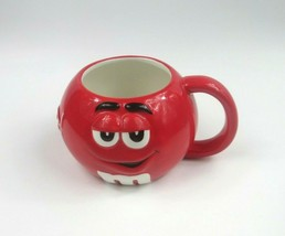 LARGE M & M CERAMIC COFFEE 3D MUG/CUP RED MARKED  MARS & GALERIE - $14.89