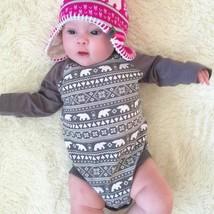Cotton Newborn Kids Baby Girl Boy Warm Bodysuit Romper Jumpsuit Clothes ... - $14.10