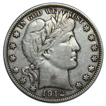1912D Liberty Barber Head Half Dollar 50¢ Silver Coin Lot# A 1523