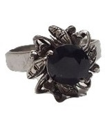 Vintage black and silver color ring 14k REPAIR  - $10.88