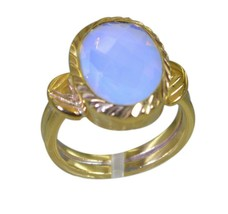 elegant Fire Opal CZ Gold Plated White Ring Natural wholesales US gift - $17.99