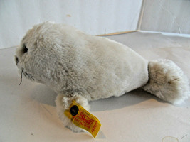 Steiff seal button flag  stuffed animal made in Germany 1714 - $31.66