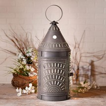 "Country new large 27"" BLACKSMITH'S blacken punched tin Floor Lantern Light - $159.95"