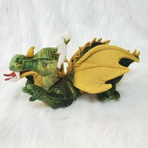 "Folkmanis Green Gold Dragon Full Body Finger Puppet 13"" Long Plush Toy B350 - $19.97"
