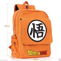 Dragon ball Z son goku Canvas Backpack School bag Shoulder Bag Anime cos... - $26.62 CAD