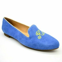 C Wonder Womens Chloe Slip On Loafer Size 6W Lt Blue Suede Pointed Toe NEW - $39.59