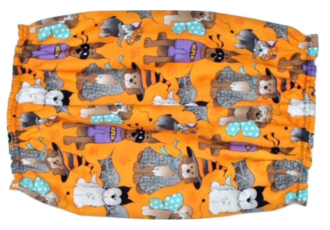 Halloween Dog Costume Party Orange Cotton Dog Snood by Howlin Hounds Puppy SHORT