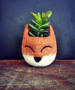 Succulent planter, Animal planter, Fox planter, cactus pot,kitsune vase,... - $26.00