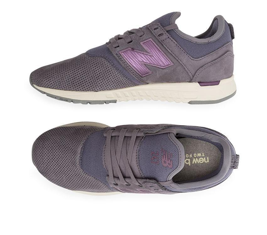 New Balance Women's Nubuck 247 Purple WRL247WM Shoe Sneaker Fashion Size 10 & 11