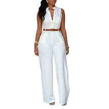 Fashion Sexy Summer Rompers with Belt Jumpsuits for Women - $35.70