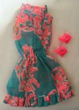 Vintage Barbie Ruffles 'n Swirls #1783 Print Wrap Dress 283-16 - $40.00