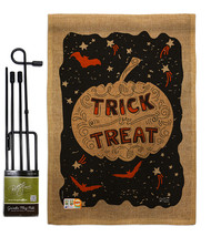 Eerie Trick Or Treat Burlap - Impressions Decorative Metal Garden Pole F... - $33.97