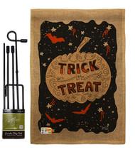 Eerie Trick Or Treat Burlap - Impressions Decorative Metal Garden Pole F... - $33.97