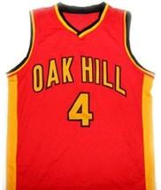 Rajon Rondo #4 Oak Hill High School Basketball Jersey Red Any Size  image 4
