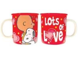 Peanuts Charlie Brown Snoopy Lots of Love Monster 52 oz Ceramic Mug NEW ... - $24.18