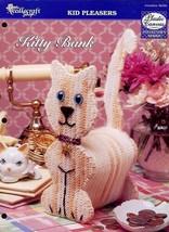 Kitty Bank Cat Kitten TNS Plastic Canvas PATTERN/INSTRUCTIONS NEW - $1.32