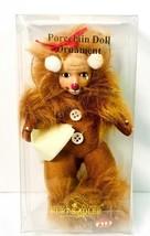 Kurt S Adler World Wizard Of Oz Cowardly Lion Porcelain Doll Ornament - $11.65