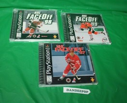 3 NHL Sony Playstation Video Games Hockey Sport Face Off 97, 98, 99 - $19.79