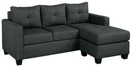 "Homelegance Phelps 78"" X 58"" Fabric Reversible Chaise Sofa, Gray - $1,282.19"