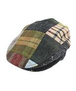 Biddy Murphy Irish Hats for Men Men's Flat Irish Hat Patchwork 100% Wool... - $86.83