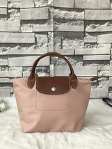 Longchamp Le Pliage Small Short Handel Nylon Handbag Light Pink 1621089A26 - $75.00
