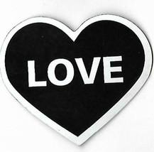 LOVE Black & White Heart Shaped Refrigerator Locker Desk Magnet  - $4.94