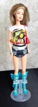 "Mattel 1999 Barbie Doll 11 1/2""  Knees Bend Micro Mini Skirt Butterfly B... - $7.69"
