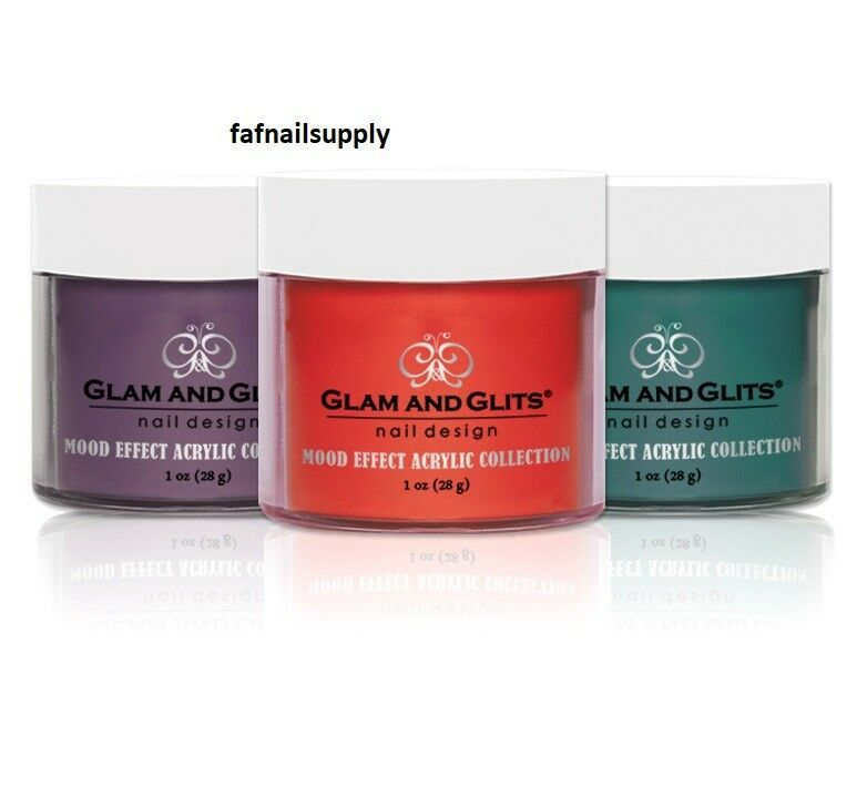 Glam & Glit ACRYLIC POWDER MOOD EFFECT COLLECTION ! Get your best colors ! - $14.99