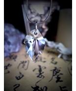 Rare INARI KITSUNE Amulet 9-TAILED Japanese WHITE FOX SPIRIT HAUNTED Pen... - $79.99