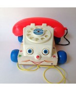 Vintage Fisher Price 1961 Chatter Phone #747 Pull Toy - $9.49