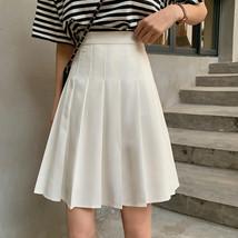 White Pleated Skirt White Pleated Tennis Skirt Plus Size White Skirt High Waist image 3