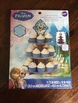 "NEW Wilton Disney Frozen Cupcake 3 Tier Treat Stand Elsa & Anna Olaf 11.75"" x 16 - $9.49"