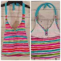 Girls sz S 6/6X Tankini Top Only Striped Mutli-colored XHILARATION   *C049 - $18.70