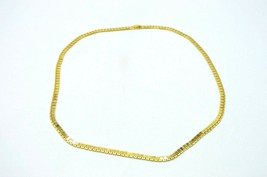 MONET Gold Tone Square Dual Level Chain Link Egyptian Style Vintage Necklace - $34.64