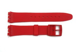 17mm Men's Soft PVC Red Replacement WATCH Band Strap fits SWATCH watches - $9.45