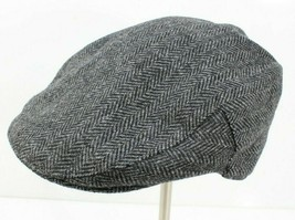 Mens Stetson 150th Anniversary Gray Tweed Wool Blend Newsboy Cabbie Hat ... - $28.93