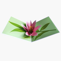 Lily--3D Greeting Card, Pop Up Card, Pop Out Card - $5.42