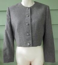 PENDLETON CROPPED PURE VIRGIN WOOL JACKET BLAZER Women's 12 Petite GRAY ... - $14.24
