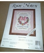 NIP JCA Love Notes Friends Forever Counted Cross Stitch Kit USA Mat Incl... - $27.99
