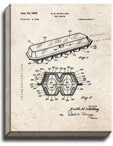 Egg Carton Patent Print Old Look on Canvas - $39.95+